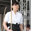 『2014年、日本武道館で薙刀を披露』