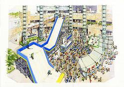雪と氷を楽しむスポーツ博覧会 六本木ヒルズに15mのジャンプ台出現