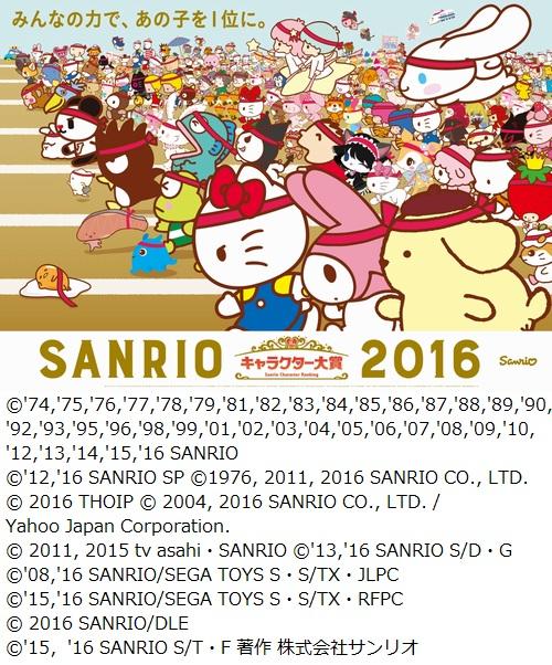 サンリオ キャラクター 大賞 歴代