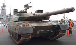 大洗町で展示された10式戦車/YouTubeより