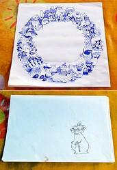 小屋に残された手描きのイラスト