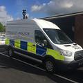 顔認証システムを搭載した警察車両(写真: NECの発表資料より)