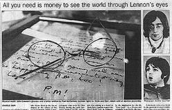 ジョン・レノンの愛用アイウェア 31回目の命日に復刻
