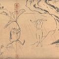 カエルがウサギに傘を渡すシーン 『丸紅新電力 鳥獣戯画「出会い」篇』より (C)2016 Studio Ghibli