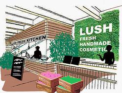 ″できたて″のコスメを販売 「LUSH」工場併設ショップ世界1号店が京都に