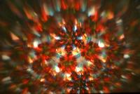 幾何学模様を投影させている「投影万華鏡」