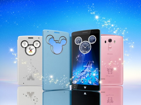 NTTドコモ、女性の手にも持ちやすいディズニースマホ「Disney Mobile on docomo DM-01G」を発表!スワロフスキークリスタルが輝くミッキーウインドウカバーが付属