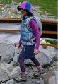 ザ・ノース・フェイスのファッションでコーディネートした女性。涸沢フェスティバル2009にて