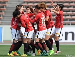 浦和LはジェフLに競り勝ち今季初勝利を挙げた