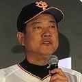 野村氏に厳しいコメントを浴びた巨人の原辰徳監督©BASEBALLKING