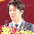 入団会見での楽天・岸孝之【写真:編集部】