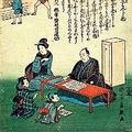 武士の父親は皆教育パパだった 「幼童遊戯早学問手紙用文はんじ物」(歌川芳員、文久2年)。父が幼い子どもたちに、読み書きの大切さを教えている場面。江戸時代、読み書き算盤を教えるのは、家長たる父親の役目だった。男子は武士の競争社会を生き抜き、女子は良家に嫁がせる(あるいは婿取り)ためにも、教養が必要だった。(公文教育研究会所蔵)