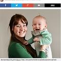 母乳を吸わなくなった息子のおかげで乳がんが発覚した母(出典:http://metro.co.uk)