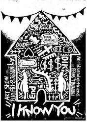 BEAMS T 原宿でアーティストLyのアートショー モノクロモンスターがジャック