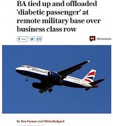 アップグレードを望んだ乗客を降機させる(出典:http://www.telegraph.co.uk)