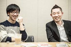 脚本を担当した鬼ヶ島・おおかわら(左)と特殊すぎる役どころで出演した今野浩喜(右)