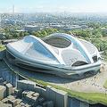 開閉式屋根を含む斬新なデザインの新国立競技場。批判が相次いでいるが…  写真提供:日本スポーツ振興センター