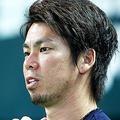 自主トレを行った広島の前田健太[Getty Images]
