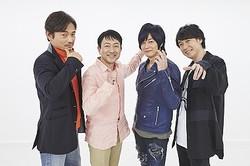 左からてらそままさき、関俊彦、遊佐浩二、鈴村健一  - (C) 石森プロ・東映