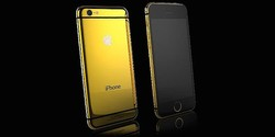 "Luxury Gold iPhone 6 (4.7"") Swarovski Style Elite Apple Logo / 画像はすべてGoldgenie公式サイトより"