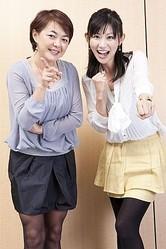 目黒貴子さん(左)と岡村麻純さん(右)、ふたりの美人キャスターが、大混戦の天皇賞・秋を予想