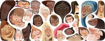 本日は国際女性デー Googleロゴも女性デー仕様に変化