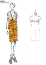 「華麗なるギャツビー」プラダとミュウミュウのドレス展、青山店で開催