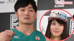 昨年5月、Bリーグの開幕会見に登壇した田中大貴と広瀬アリス