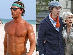 マシュー・マコノヒー - ダイエット以前の姿(左)と現在の激やせした姿(右)  - Gustavo Caballero / Getty Images Entertainment / 写真:FameFlynet/アフロ