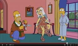 【動画】GAGA出演シンプソンズ予告ムービー公開、生肉ドレスも