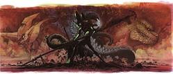 前田真宏による「ゴジラ対エヴァンゲリオン」イメージビジュアル  - (C)TM& (C)TOHO CO.,LTD. (C)カラー