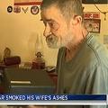 妻の遺灰をドラッグ同様に扱われ、泥棒に激怒(画像はfox10tv.comのスクリーンショット)