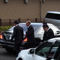 葬儀会場に入る六代目山口組司忍組長