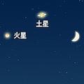 ★月 土星 火星が接近★