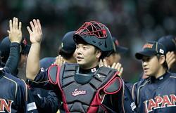 WBCでは日本代表の正捕手として出場した巨人の阿部慎之助[Getty Images]