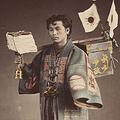 明治初期の日本の田舎生活を写した写真 手作業でカラーに