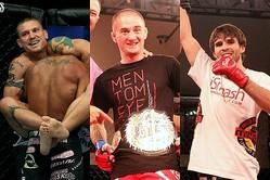 左からカルロ・プラター、イアン・ラブランド、ダレル・モンタギューのVTJ 1st来日選手 (C) GONGKAKUTOGI & MMAPLANET