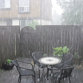 Heavy rain outside