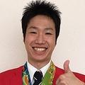 地元磐田パレード前の水谷隼選手(出典:https://twitter.com/mizutani__jun)