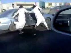 高速道路での危険行為(サウジアラビア)