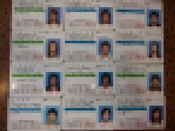 流出した免許 ※個人情報保護のためモザイク処理を施しております。