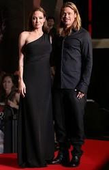 アンジェリーナ・ジョリーがブラピ最新作ジャパンプレミア出席 ドレスはサンローラン