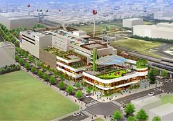 イースト東京の新都市拠点「ポンテグランデTOKYO」に商業施設2014年開業