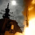 海自のイージス艦「こんごう」から発射される弾道ミサイル迎撃用のSM−3ミサイル