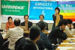 19日、衆議院第2議員会館で行われた共謀罪反対アピールの発表会見。(撮影:徳永裕介)
