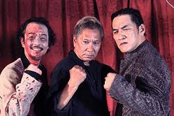 (左から)リリー・フランキー、三池崇史監督、ピエール瀧(C)2015「極道大戦争」製作委員会