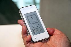 「mirumo」のメモリ液晶にカレンダーと時計を表示