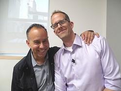 左から、製作者ジョナス・リヴェラ、ピート・ドクター監督
