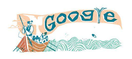 え? 何これクジラ? Googleロゴをよく見ると目つきの悪いクジラがいる!