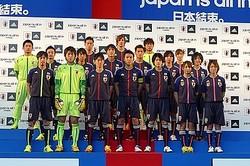 サッカー日本代表の新オフィシャルユニフォーム発表 テーマは「結束」